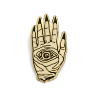 Death Hand Gold Lapel Pin