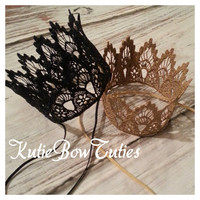 Ready To Ship Haven Vintage Lace Crown headband, photography prop, photo prop, Princess, First Birthday, Boho, Shabby Chic Headband, Newborn