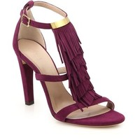 Chloe Suede Fringed Sandals