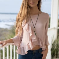 Bloomington Blush Ruffle Top