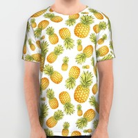 Pineapple Glittering Party All Over Print Shirt by Octavia Soldani