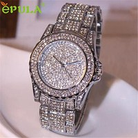 Hot Smart watches  Luxury women watches rhinestone ceramic crystal Cuarzo watches Lady Dress Watch  relojes de las mujeres NOV16