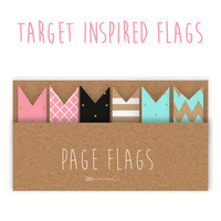 Target Inspired Printable Page Flags | Set 1