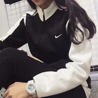 "Fashion ""NIKE"" Zipper Cardigan Sweatshirt Jacket Coat Windbreaker Sportswear"