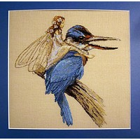 Top Quality popular lovely counted cross stitch kit blue bird fairy Nimue NIUM