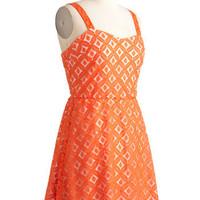 Tangible in Tangerine Dress | Mod Retro Vintage Dresses | ModCloth.com