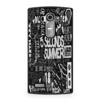 5 Seconds of Summer Songs Collage Black For LG G4 Case