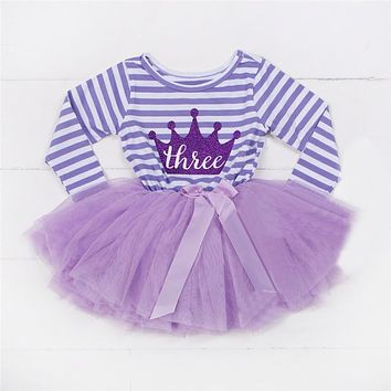 Baby Girl Baptism Dress For Birthday Party Children's Costume For Girl born Toddler Outfit