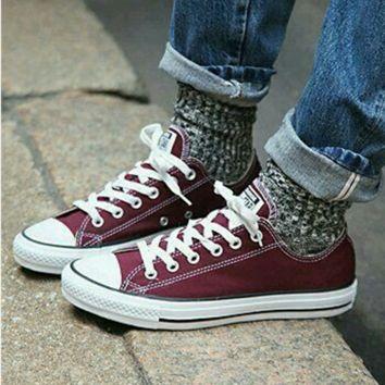 Adult Converse All Star Low-Top Sneakers Wine red