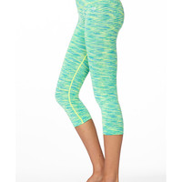 Space Dye Skinny Workout Capri