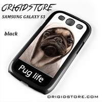 New Design Funny Hilarious Pug Life Parody Fans For Samsung Galaxy S3 Case UY