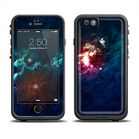 The Glowing Colorful Space Scene Apple iPhone 6 LifeProof Fre Case Skin Set