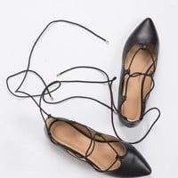 Lace-Up Ballerina Flats