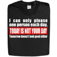 "Stabilitees Funny Printed ""Today is not your day"" Designed Mens T Shirts, Black, XX-Large"
