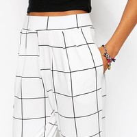 ASOS TALL Mono Sketchy Check Trouser