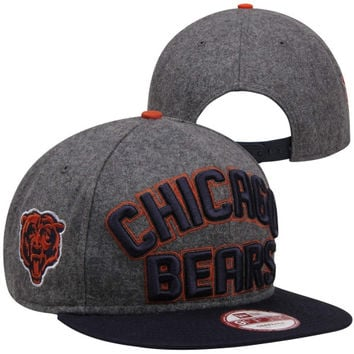 New Era Chicago Bears Emphasized 9FIFTY Snapback Hat - Charcoal/Navy Blue