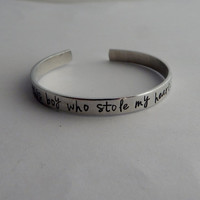 So there's this boy who stole my heart, he calls me mom / Hand Stamped Mother Son Bracelet / Hand Stamped Bracelet / Mother's Day Gift