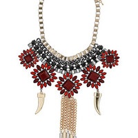 Flower Tusk Collar - Necklaces - Jewelry  - Bags & Accessories
