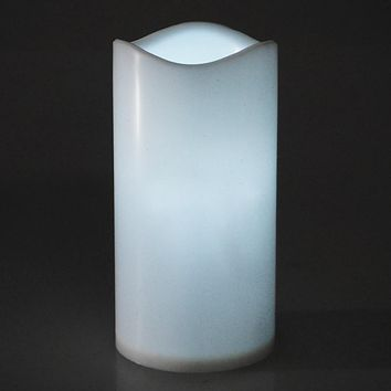 Flameless Plastic Candle LED Light, White, 5-1/2-Inch