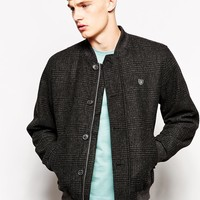 Farah Bomber Jacket with Prince of Wales Check