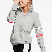 Lace-Up Perfect Pullover - PINK - Victoria's Secret