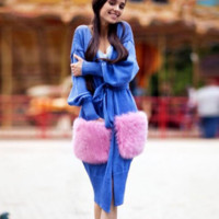 HOT FREE SIZE SWEATER CUTE POCKET COAT