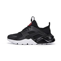 Nike AIR HUARACHE RUN PRM Black White Red