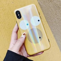 Cute abstract Simpson face phone case For iphone 7 Case For iphone X case For iphone XR Xs Max 6S 6 7 8 Plus Auroral Soft Cases