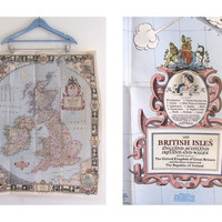 STOREWIDE SALE...Vintage 1949 Map of The British Isles / Large Wall Map