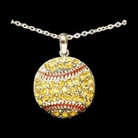 Softball - Crystal Necklace