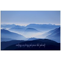 Ralph Waldo Emerson Peace Quote Rolled Canvas Wall Art