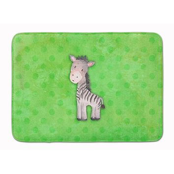 Polkadot Zebra Watercolor Machine Washable Memory Foam Mat BB7377RUG