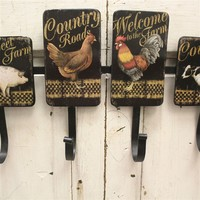 Rustic Country Farmhouse Hooks
