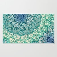 Emerald Doodle Rug by Micklyn