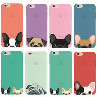 Girllove100  Welcome to take your pets home,cute pet phone case for iphone 4 4s 5 5s 6 6s 6plus 7 7plus