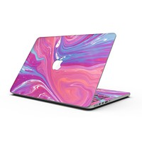 Marbleized Pink and Blue v391 - MacBook Pro with Retina Display Full-Coverage Skin Kit