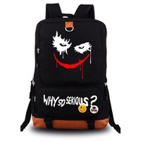 Suicide Squad Joker Harley Quinn backpack casual teenagers Men women's Student School Bags travel Shoulder Bag Laptop Bags