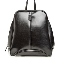 DailyLook: Horowitz Vegan Leather Backpack in Black