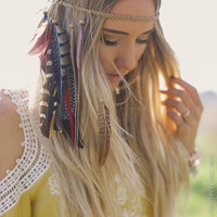 Coachella, Feather Headband, Headpiece, Boho Feather Headress, Coachella Music Festival Accessories, Feather Crown, Bohemian hairpiece,