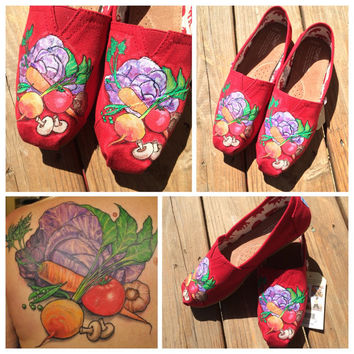 Vegan Chef Custom Toms Shoes for Foodies Chef Gifts