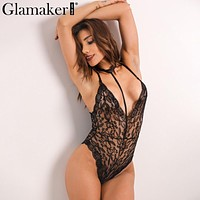 Hot New Women Sexy Deep V Neck Lace Bodycon Bodysuit femme Ladies Babydoll Sleepwear Lingerie Rompers Overall enteritos mujer Z1
