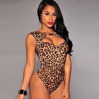 Hot Deal Cute On Sale Sexy Leopard One-piece Summer Exotic Lingerie [6596520707]