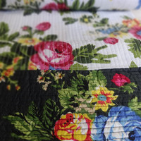 Reversible Printed Quilt, Cotton Comforter, Multi Color Luxury Bedding, Bohemian , Size 140 x 220 Cms different Pattern on reversible sides
