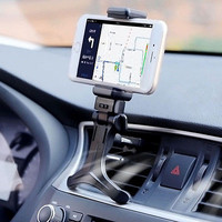 Black Car Air Vent Mount Cradle Holder Stand For Mobile Smart Cell Phone GPS BDA