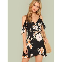 Flowers And Kisses Dress - Multi