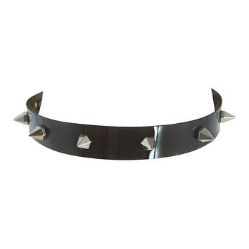 Cyber Punk Cyber Rave Cyber Goth Transparent PVC Spiked Collar Choker Necklace