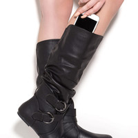 Step On It Faux Leather Boots