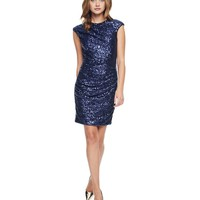 Starless Sky Sequin Drape Dress by Juicy Couture,