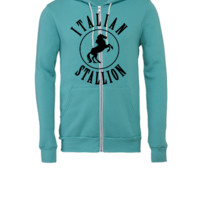 Italian Stallion - Unisex Full-Zip Hooded Sweatshirt
