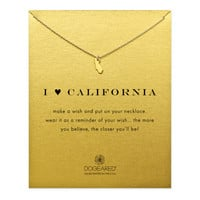 I Love California Necklace, Gold Dipped | Dogeared